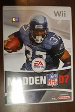 Wii game Madden NFL 07