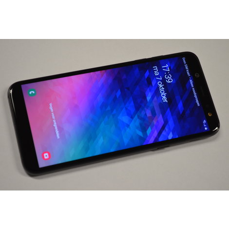 Samsung Galaxy A6 Black - SM-A600FN - Simvrij incl. oplader - Android 9