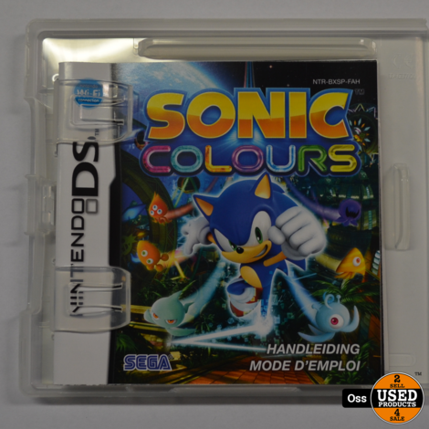 Nintendo DS game Sonic Colours incl. doosje/boekje