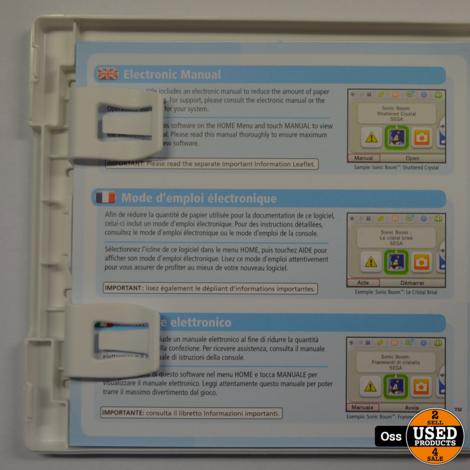 Nintendo 3DS game Sonic Boom Shattered Crystal incl. doosje/boekje