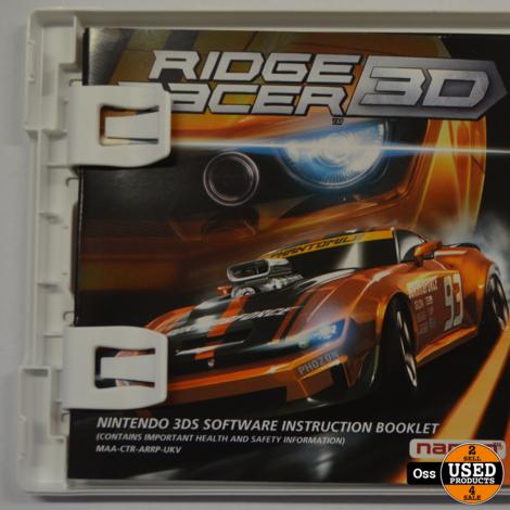 Nintendo 3DS game Ridge Racer 3D incl. doosje/boekje