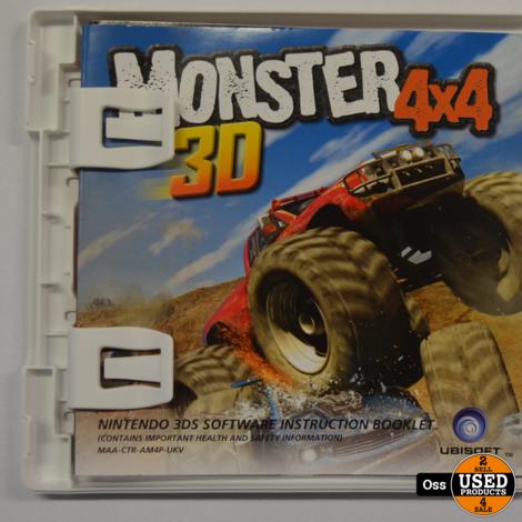Nintendo 3DS game Monster 4x4 3D incl. doosje/boekje