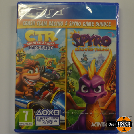 NIEUW IN SEAL: Playstation 4 gamebundel: CTR Crash Team Racing Nitro Fueled + Spyro Reignited Trilogy