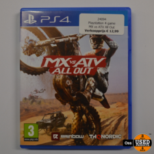 Playstation 4 game MX vs ATV All Out