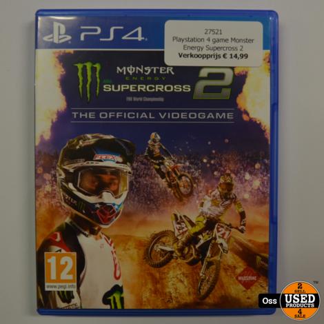 Playstation 4 game Monster Energy Supercross 2