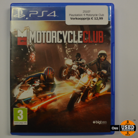 Playstation 4 game Motorycle Club