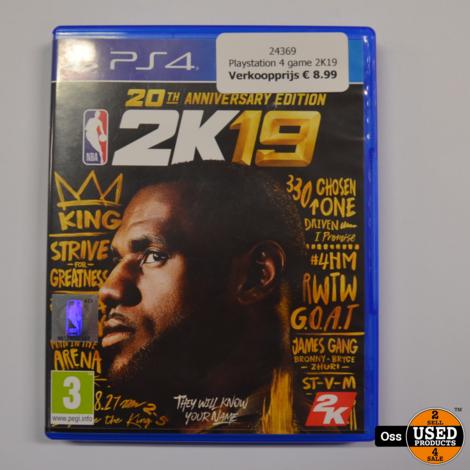 Playstation 4 game 2K19 basketbal