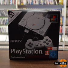 Sony Playstation ZGAN IN DOOS: Sony Playstation Classic Mini incl. 2 controllers, USB-kabel en HDMI-kabel