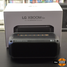 ZGAN IN DOOS: LG XBoom Go PK3 Bluetooth Speaker incl. doosje en USB-kabel