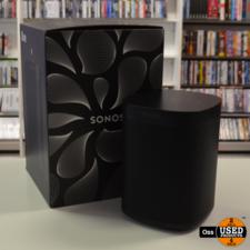 ZGAN IN DOOS: Sonos One Gen 2 Black Wireless Speaker incl. doos en stroomkabel