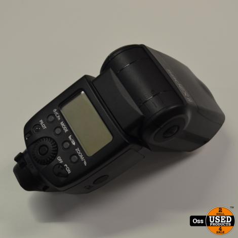 Canon Speedlite 580EX II Flitser incl. doosje, foedraal, standaardje en boekjes