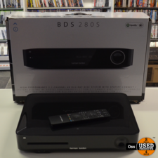 Harman Kardon BDS 280S 2.1 4K Blu-Ray System - incl. doos, AB, antenne & microfoon - geen WIFI-antennes - doos gescheurd