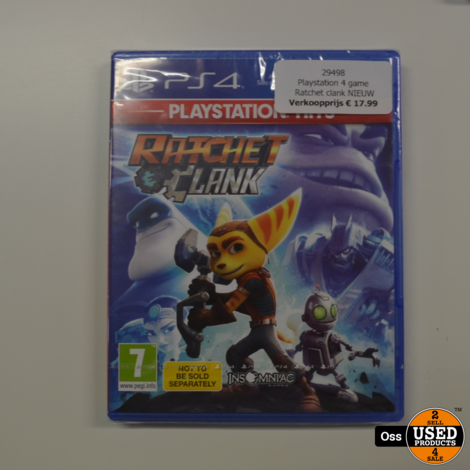 NIEUW IN SEAL Playstation 4 game Ratchet & Clank / Ratchet and Clank