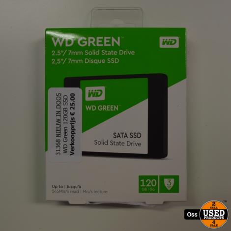 NIEUW IN DOOSJE: WD Green 120GB SSD