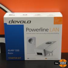 NIEUW IN DOOS: Devolo dLAN 550 duo+ Powerline LAN - internet via stopcontact