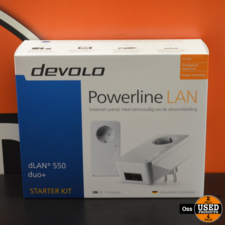NIEUW IN DOOS: Devolo dLAN 550 duo+ Powerline LAN - internet via stopcontact