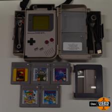 Nintendo Game Boy Classic incl. koffertje, oordopjes, link-kabel, Light Magic en 5 games (21-in-1, Super Mario Land 1&2, Tetris en Turtles II)