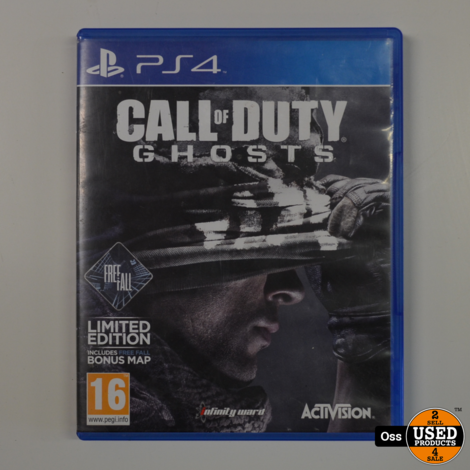 Playstation 4 game Call of Duty Ghosts - hoesje heeft spoortjes