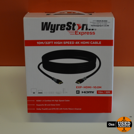 NIEUW: Wyrestorm Express EXP-HDMI-10.0 - HDMI kabel van 10-meter