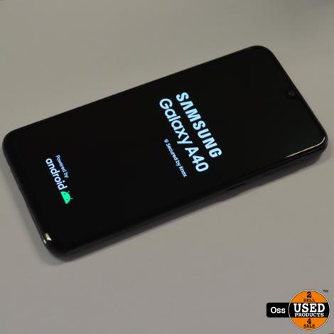 Samsung Galaxy A40 Black - Android 10 - 64GB/4GB - Dual-Sim - Simvrij incl. oplader
