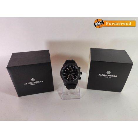 Alpha Sierra Horloge - Blackhawk - UH60B - Horloge - Siliconen - 48 mm - Zwart