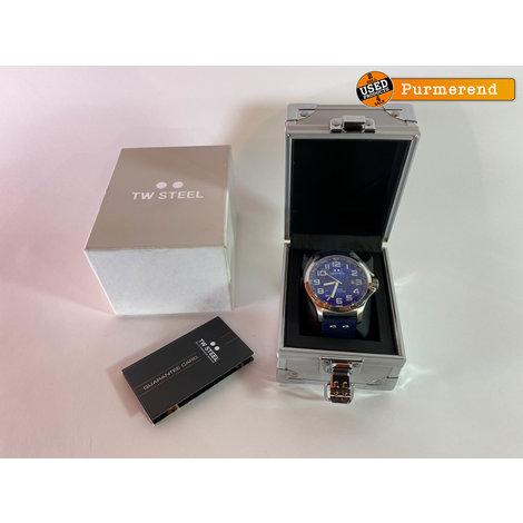 TW Steel Pilot TW401- Horloge - 48 mm - Blauw | Nieuw