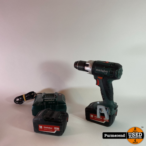 Metabo BS 18 LT 18V Boormachine + 2 Accu's
