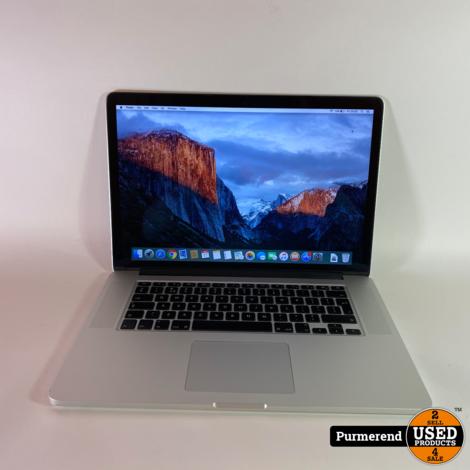 Macbook Pro 15 inch 2013 i7 2.4GHz 8GB RAM 512GB SSD Gebruikt