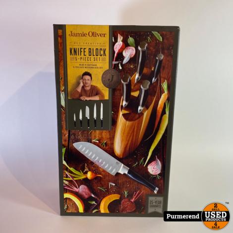Jamie Oliver messenblok - 5-delig - acaciahout