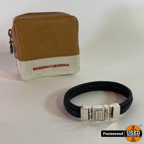Buddha to Buddha Edwin Small Leather 181BL Aarmband Maat D 18CM