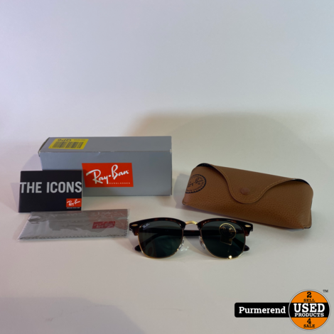 Ray-Ban Clubmaster RB3016 W0366 49-21 | Nieuw Compleet