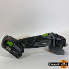 Lux-Tools A-WS-20/115 Accu Haakse Slijper | Nieuw (Zonder Doos)