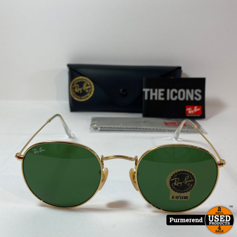 Ray-Ban RB3447 Round Metal 001 50-21 3N | Nieuw