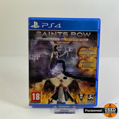 PS4 Game: Saints Row 4 Re-Elected + Gat Out of Hell