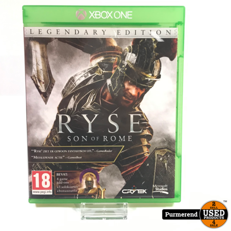 XBOX One Game : Ryse Son Of Rome