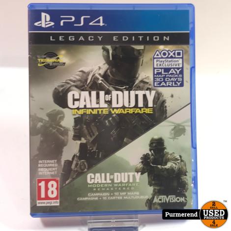 Playstation 4 Game : Call Of Duty Infinite Warfare + Modern warfare (Legacy Bundel)