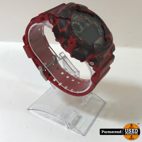 Casio G-Shock GD-120CM Leger Rood   Nette staat