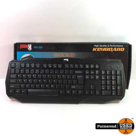 BoomX KBL-320 RGB USB-Keyboard | Nieuw