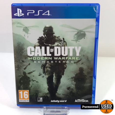PS4 Game: Call of Duty Modern Warfare Remastered