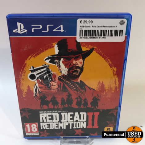 PS4 Game: Red Dead Redemption II (2)