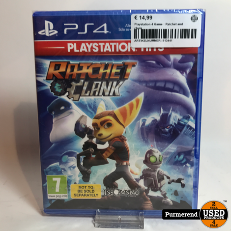 Playstation 4 Game : Ratchet and clank