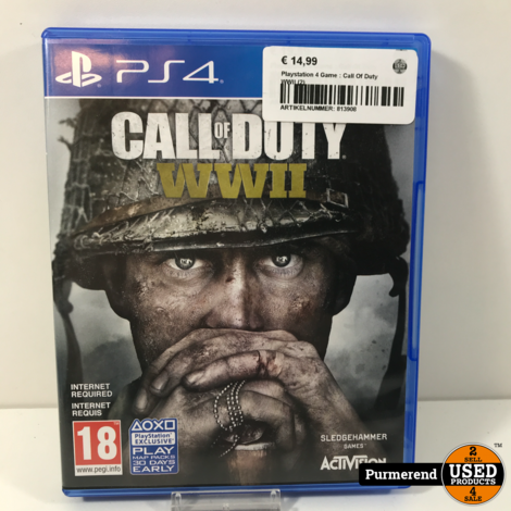 Playstation 4 Game : Call Of Duty WWII (2)