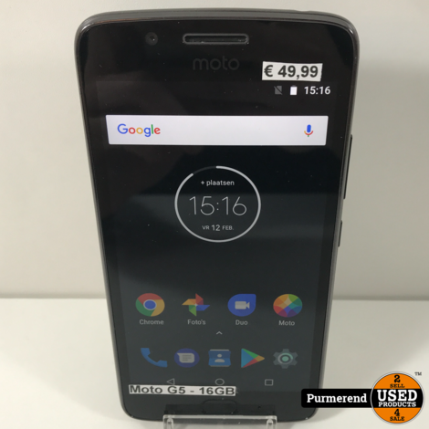 Moto G5 16GB Zwart | Gebruikte staat