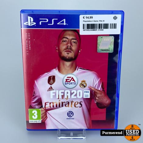Playstation 4 Game: Fifa 20