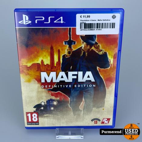 Playstation 4 Game : Mafia Definitive Edition
