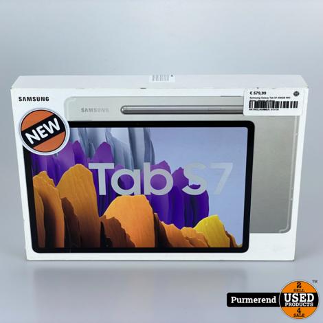 Samsung Galaxy Tab S7 256GB Wifi Silver | Nieuw uit doos