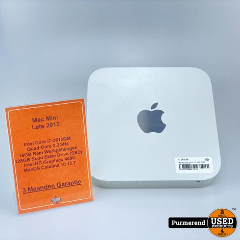 Mac Mini Late 2012 i7 2.3 16GB 128GB SSD | Nette staat