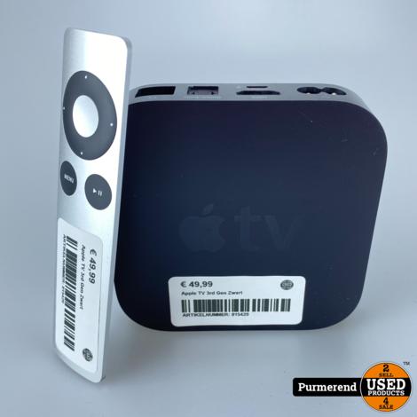 Apple TV 3rd Gen Zwart