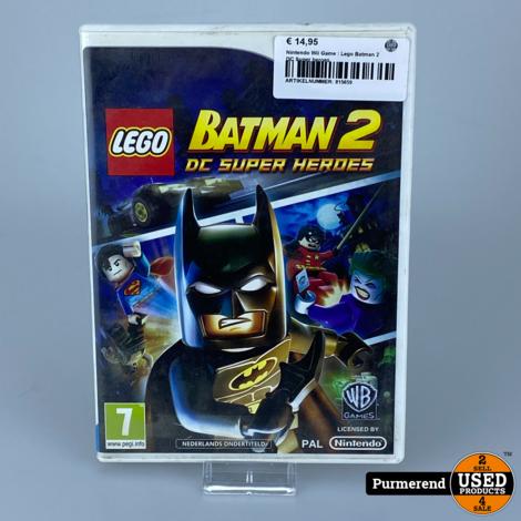 Nintendo Wii Game: Lego Batman 2 DC Super heroes