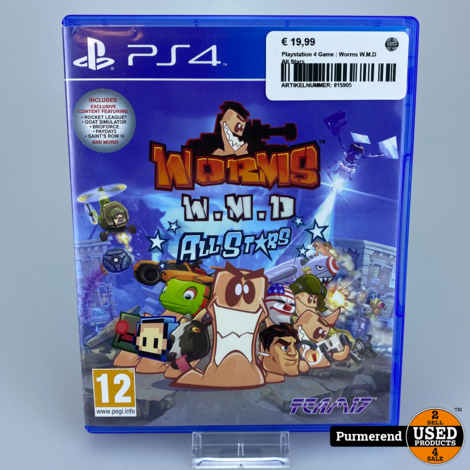 Playstation 4 Game : Worms W.M.D All Stars
